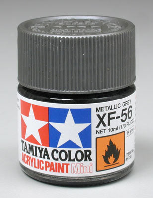 Tamiya XF-56 Metallic Gray 1/3 oz Acrylic Mini TAM81756
