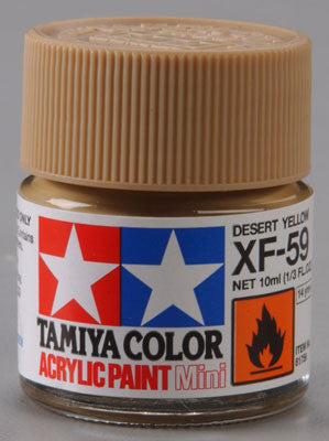 Tamiya XF-59 Desert Yellow 1/3 oz Acrylic Mini TAM81759
