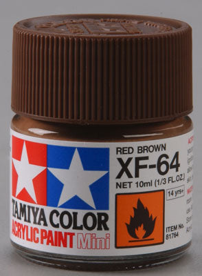 Tamiya XF-64 Red Brown 1/3 oz Acrylic Mini TAM81764