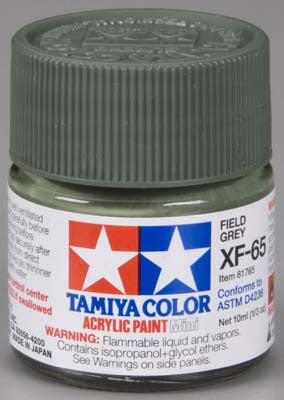 Tamiya XF-65 Field Gray 1/3 oz Acrylic Mini TAM81765