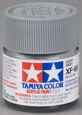 Tamiya XF-66 Light Gray 1/3 oz Acrylic Mini TAM81766