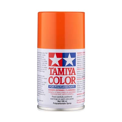 Tamiya Ps-62 Pure Orange Polycarbonate Spray TAM86062