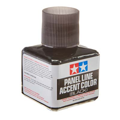Tamiya Panel Line Accent Color Black TAM87131
