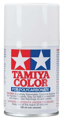 Tamiya Ps-1 White Polycarbonate Spray 3 Oz TAM86001