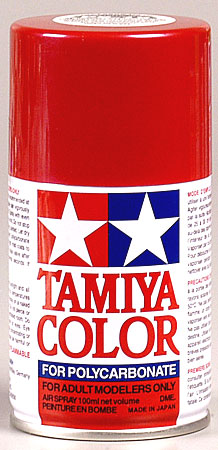 Tamiya Ps-15 Metal Red Polycarbonate Spray 3 Oz TAM86015