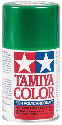 Tamiya Ps-17 Metal Green Polycarbonate Spray 3 TAM86017