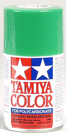 Tamiya Ps-25 Bright Green Polycarbonate Spray 3oz Mini TAM86025