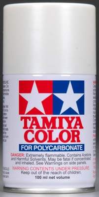 Tamiya Ps-57 Pearl White Polycarbonate Spray TAM86057