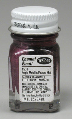 Testors Purple Metal Flake 4-Jan oz TES1531TT