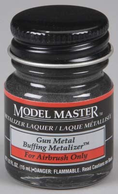 Testors Model Master Gunmetal Buff Metallic 2-Jan oz TES1405