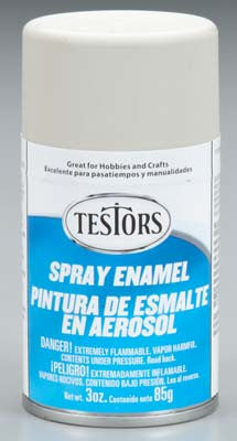 Testors Spray Flat Light Aircraft Gray 3 oz TES1233T