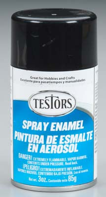 Testors Spray Black 3 oz TES1247T