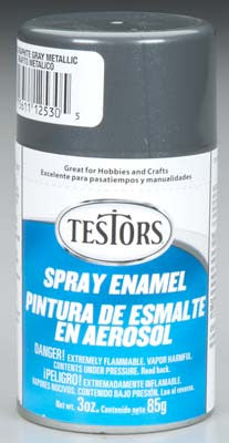 Testors Spray Graphite Gray Metallic Enamel 3 oz TES1253T