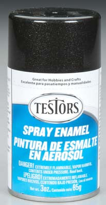 Testors Spray Black Metallic Enamel 3 oz TES1254T