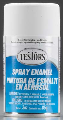 Testors Spray Flat White 3 oz TES1258T