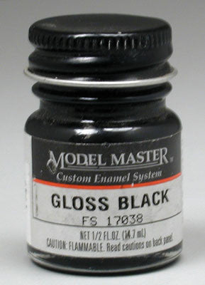 Testors Model Master Gloss Black 17038 2-Jan oz TES1747