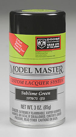 Testors Model Master Spray Sublime Green 3 oz TES28117
