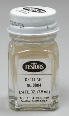 Testors Plain Decal Set Solution 4-Jan oz TES8804TT