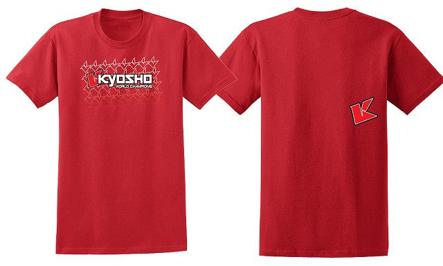Kyosho 3XL Red KFade 2.0 Short Sleeve Shirt KYOKA10003S3X