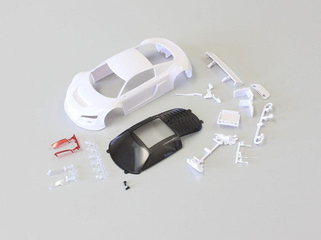 Kyosho Audi R8LMS White body set w/ Night Race KYOMZN161