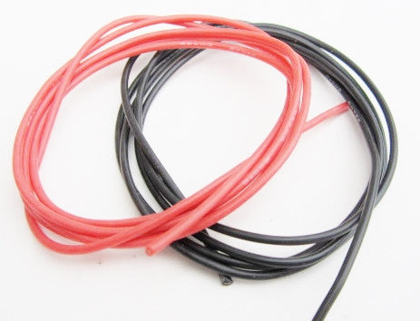 TQ Wires 22 Gauge Silicone Wire 3' Black 3' Red TQ2200