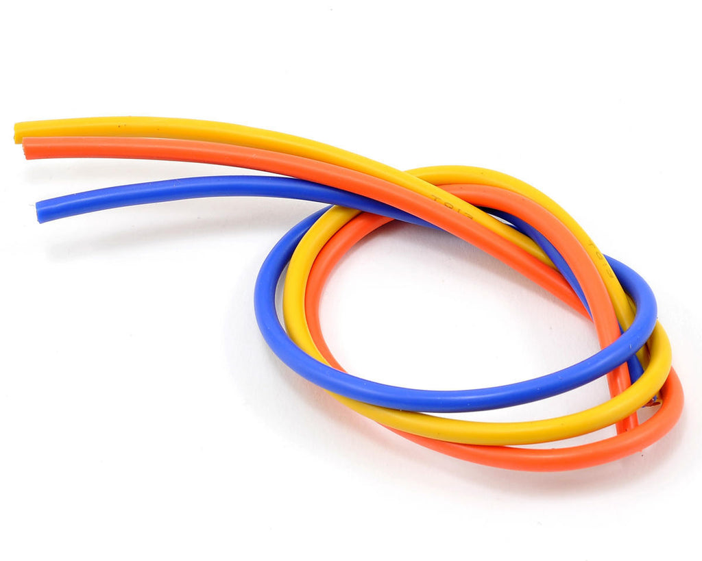 TQ Wires 13 Gauge Brushless 3 Wire 1' Orange/Yellow/Blue TQ1304