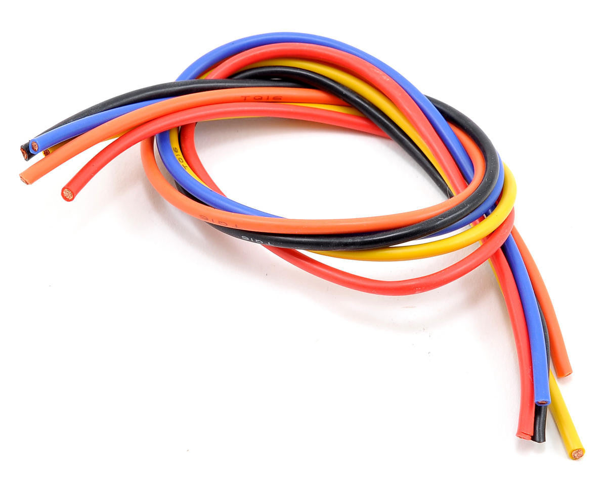 TQ Wires 16 Gauge 5' Wire Kit 1' ea Black/Blue/Red/Orange/Yellow TQ1605