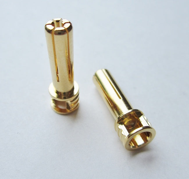 TQ Wire 5mm Male Bullets Window Top (pr.) Gold 21mm TQW2508