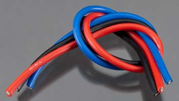 TQ Wires 10 Gauge 1' Black/Red/Blue TQ1103