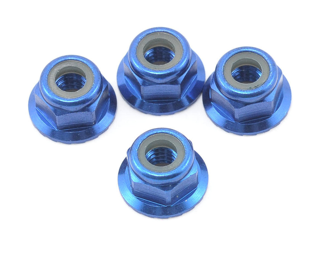 Traxxas Nuts Flanged Nylon Locking 4mm Blue TRA1747R