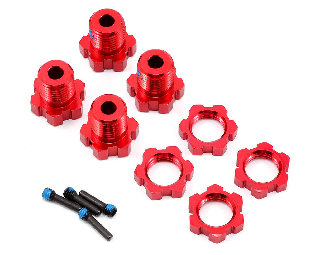 Traxxas Wheel Hubs Splined 17mm Red-Anodized TRA5353R