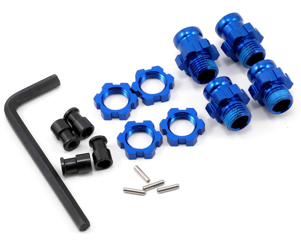 Traxxas Wheel Hub Set 17mm Short(2) Long(2) Blu Slash 2WD  TRA5853X