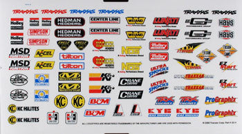Traxxas 2514 Decal Sheet Sponsor TRA2514