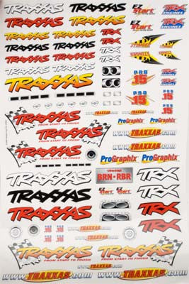 Traxxas Decal Sheet Team Traxxas TRA9950