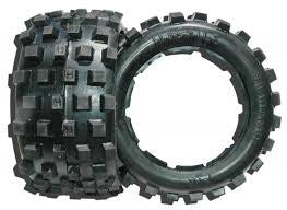 Daves Motors Hostile MX Knobby Rear Tire Set for 5b X Hard Compound DDMTT339