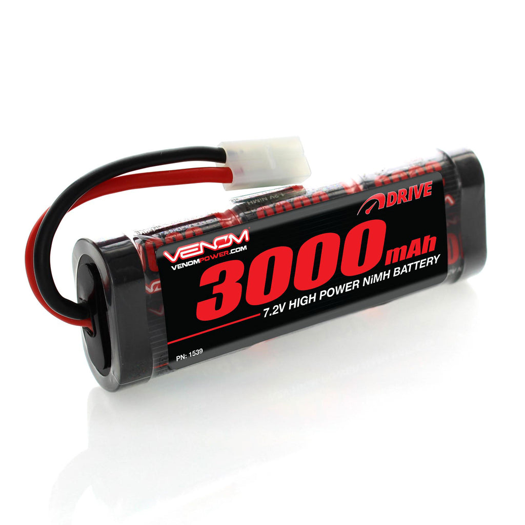Venom DRIVE 7.2V 3000mAh NiMH Battery with Tamiya for Starter VNR1539