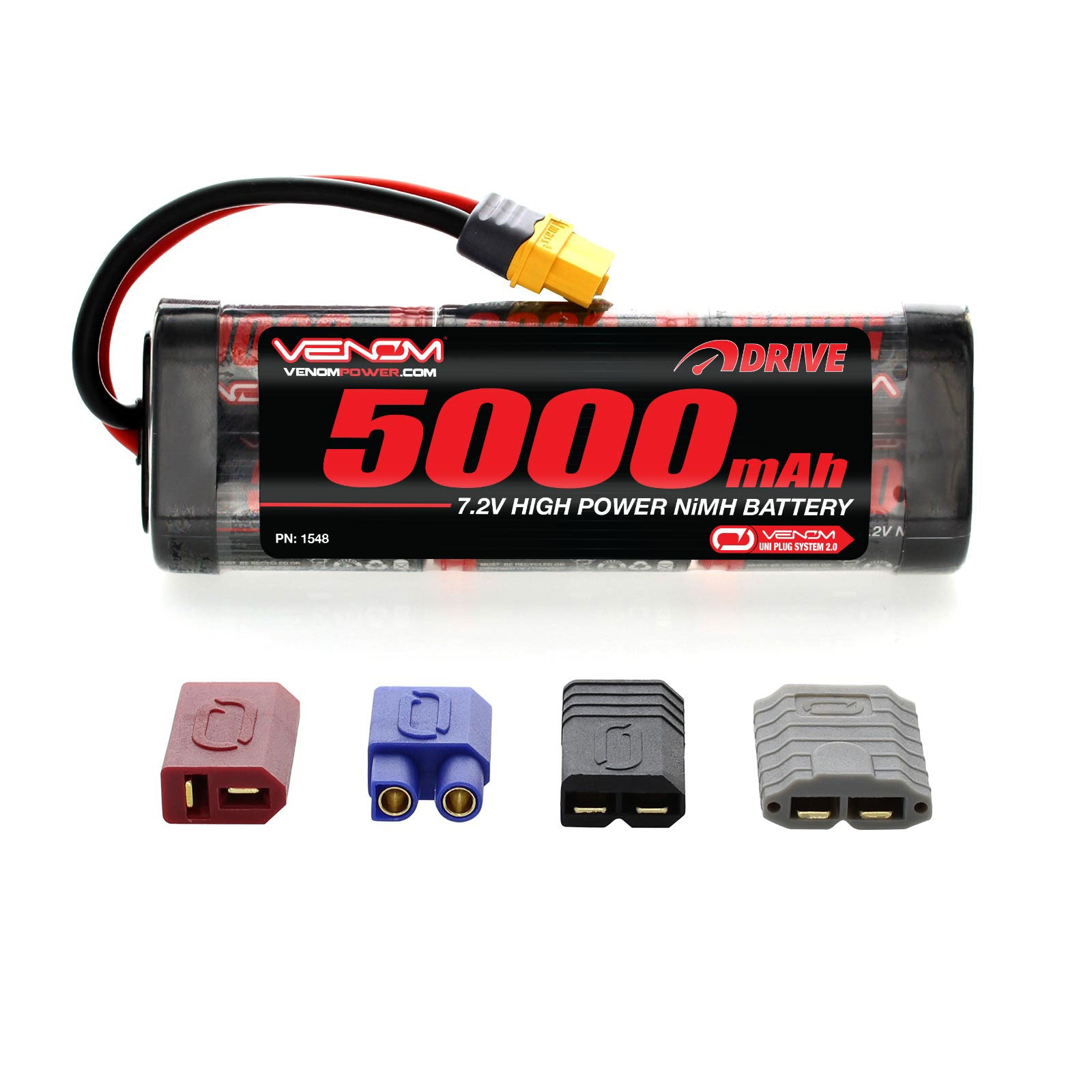 Venom DRIVE 7.2V 5000mAh NiMH Battery with UNI 2.0 Plug VNR1548