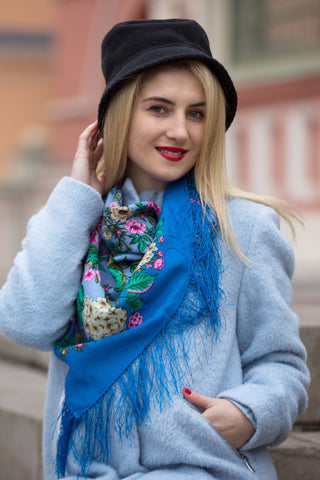 Thirst of Colour Scarf (Blue)