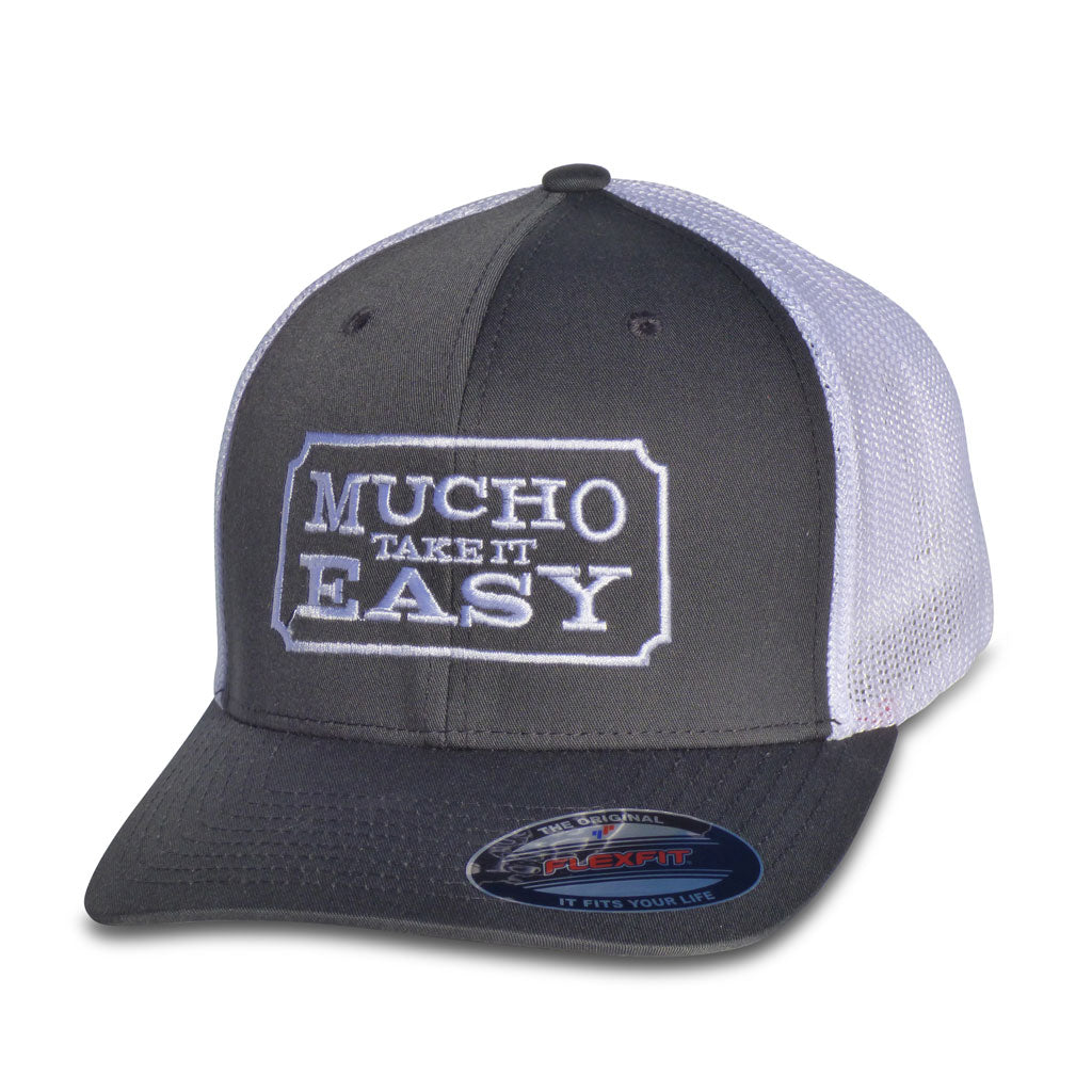 Ticket Hat - Charcoal FlexFit