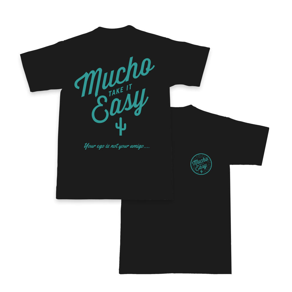 Men's Sunburst Beefy T - Black/Cyan