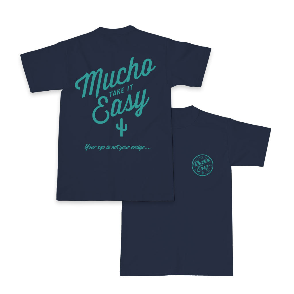 Men's Sunburst Beefy T - Navy/Cyan