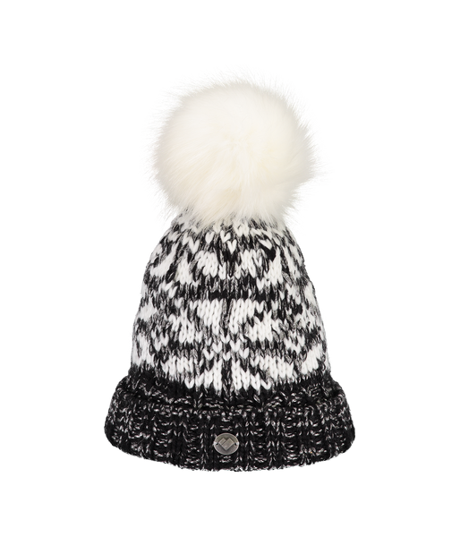 FLURRY KNIT HAT W/FF POM