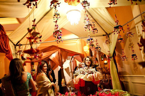 Indian Street Bazaar Theme Decor & Tent Draping