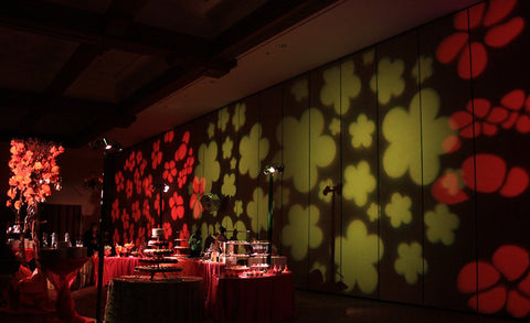 Colored Wall Pattern Lighting Decor