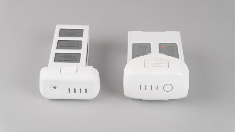 Batteries - Phantom 3 (left), Phantom 4 (right)