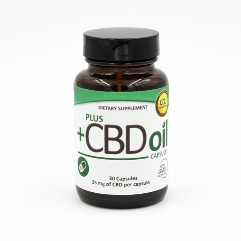 +CBD Plus CBD Oil Capsules 10 mg 30 Count