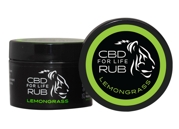 CBD for Life Rub – Lemongrass 0.9 oz.