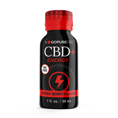 Go Pure CBD + Energy 25 mg THC Free Shot