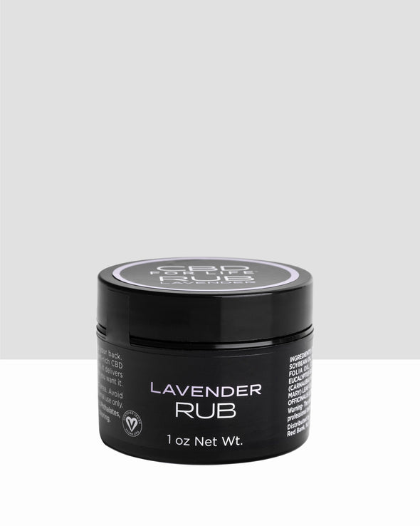 CBD for Life Rub - Lavender 0.9 oz.