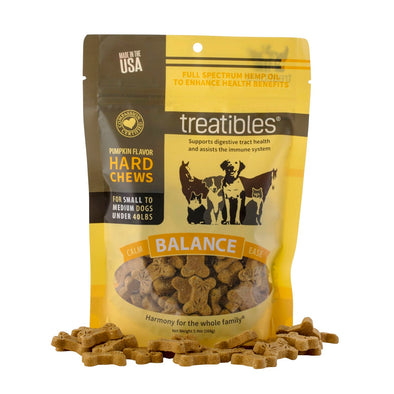 Treatibles - Pumpkin Flavor Hard Chews - Small Dog - 45 Ct